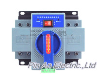 2P 63A 230V MCB Type Blue Color Dual Power Automatic Transfer Switch ATS Rated Frequency 50