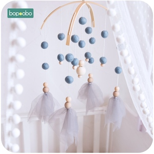 Baby Mobile Wooden Beads Wind Chimes Bell Toys For Kids Baby Rattles Room Bed Hanging Decor Tent Decor Photography Props Gifts
