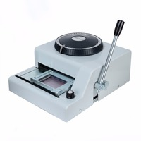 72 Character Letters Embossing Machine Printer Manual PVC Cards Embosser Stamping Machine Hand Tool Set MAYITR