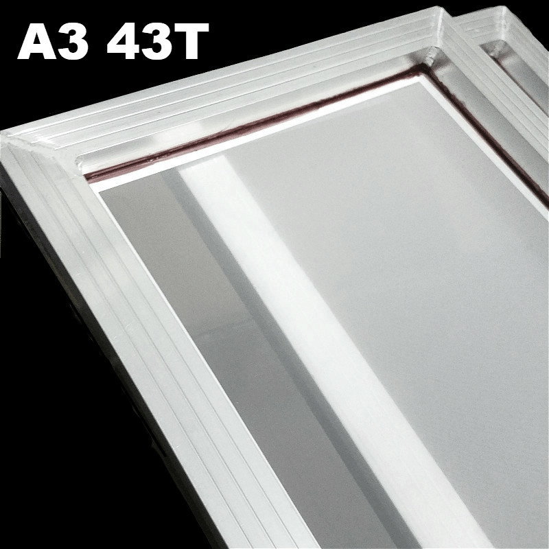 A3 Screen Printing Aluminum Frame 31*41cm With White 43T Silk Print Polyester Mesh For High-precision Printed Circuit Boards