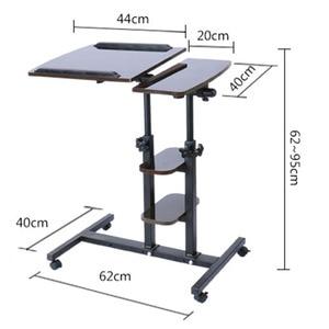 Image 5 - Simple Modern Double Pole Lifting Laptop Desk Free Mobile Computer Desk With Multi function Storage Rack Adjustable Laptop Desk