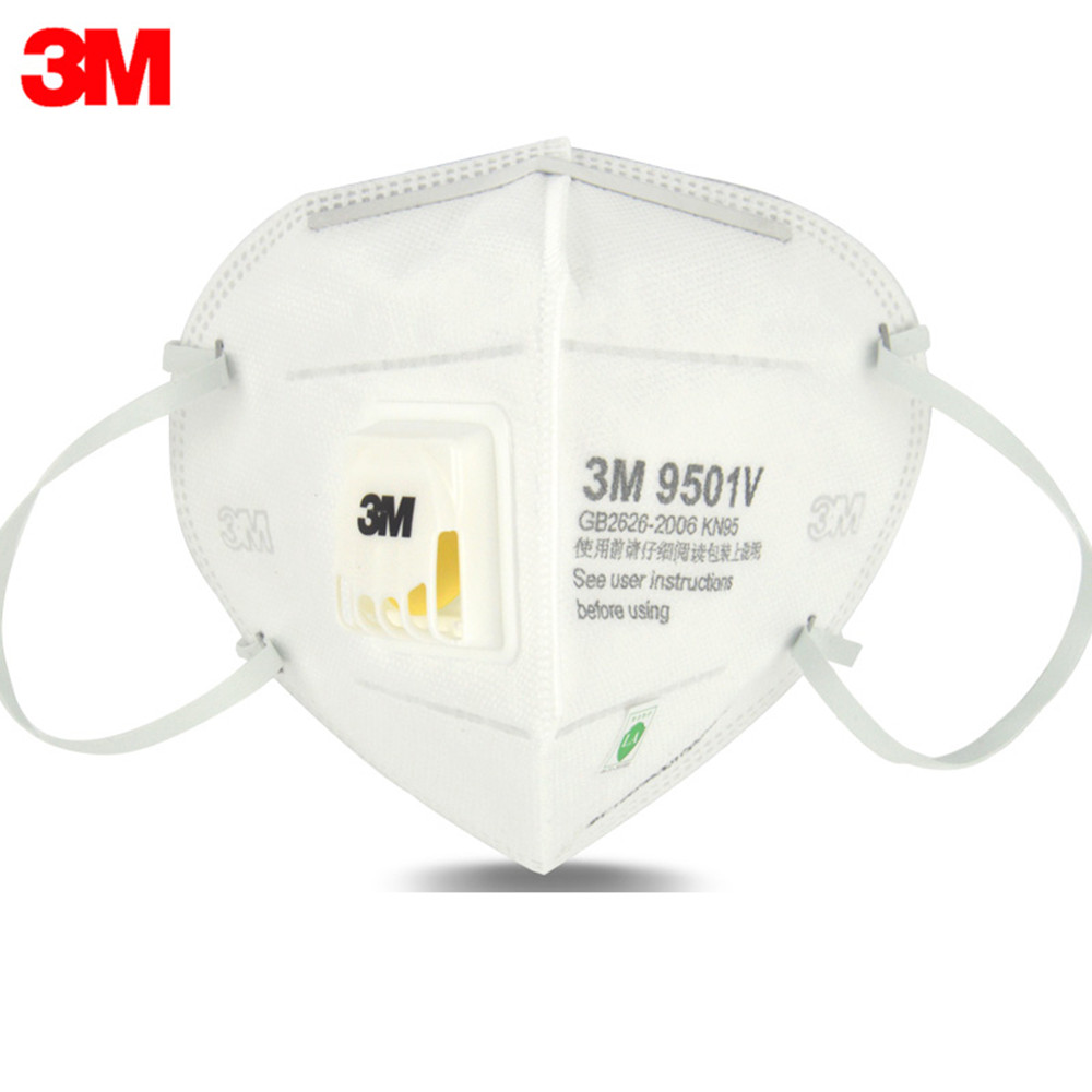 5pcs/lot 3m 9501v Mask Anti Dust Masks Kn95 Masks Anti-haze Riding Protective Masks Anti-particles Filter Material 2019 Official