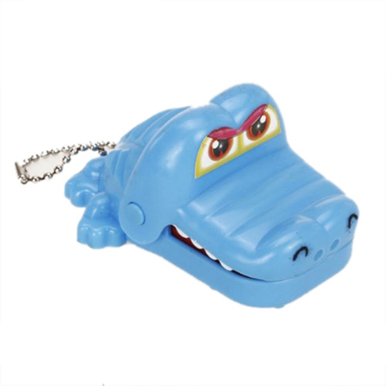 Crocodile Mouth Dentist Bite Game Toy with Keychain