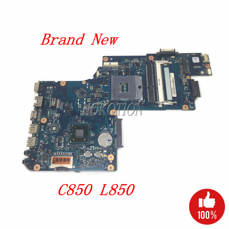 NOKOTION Brand New H000038360 Main Board For Toshiba Satellite C850 L850 Laptop Motherboard HM76 GMA HD4000 DDR3 full tested nokotion laptop motherboard for toshiba satellite l875 h000043480 mainboard hm76 gma hd4000 ddr3 page 3