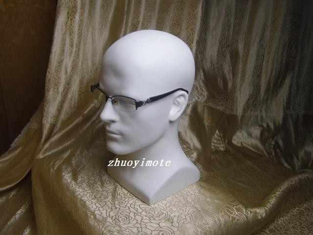 Fiberglass Pria Manekin Boneka Kepala Manikin Kepala