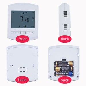 Image 5 - Không dây độ ẩm dữ liệu logger 470 MHz Đồng hồ đo độ ẩm Lora 433 Mhz nhiệt độ độ ẩm cảm biến gắn tường pin có thể thay thế được