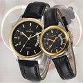 Relogio feminino 2016 Moda Amante Relógios de Couro Relógio de Quartzo-Basta Discar moda homens mulheres Casais Relógios Relojes Hombre