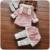 Meninas do bebê Roupas de Inverno Casaco + Calça Saia 2 pcs crianças Bonito orelhas de coelho com capuz Wram grosso roupas infantis definir bebê Roupa Menina