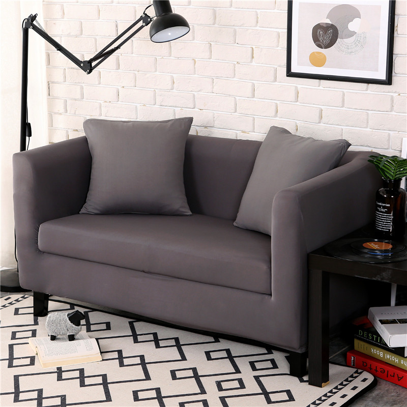 New Slipcover Stretch Sofa Cover Sofa With Loveseat Chair: Flexible Stretch Slipcover Non Slip Solid Chair Covers