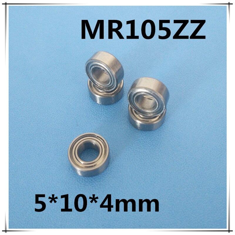 20pcs/lot MR105 MR105ZZ MR1052Z Metal Sealed Shielded Miniature Mini Deep Groove Bearing Ball 5x10x4mm 5*10*4 Free Shipping 5pcs lot f6002zz f6002 zz 15x32x9mm metal shielded flange deep groove ball bearing