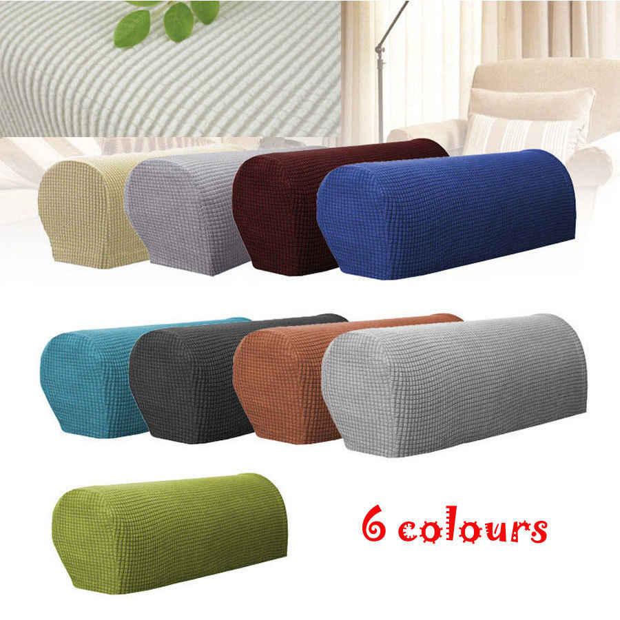 Moda Sofá Braço Cobre Conjunto Pedaço Cadeira Sofá Elástica Stretchy Protetores de Braço Trecho Lavável Removível Slipcovers 2 Pcs Conjuntos