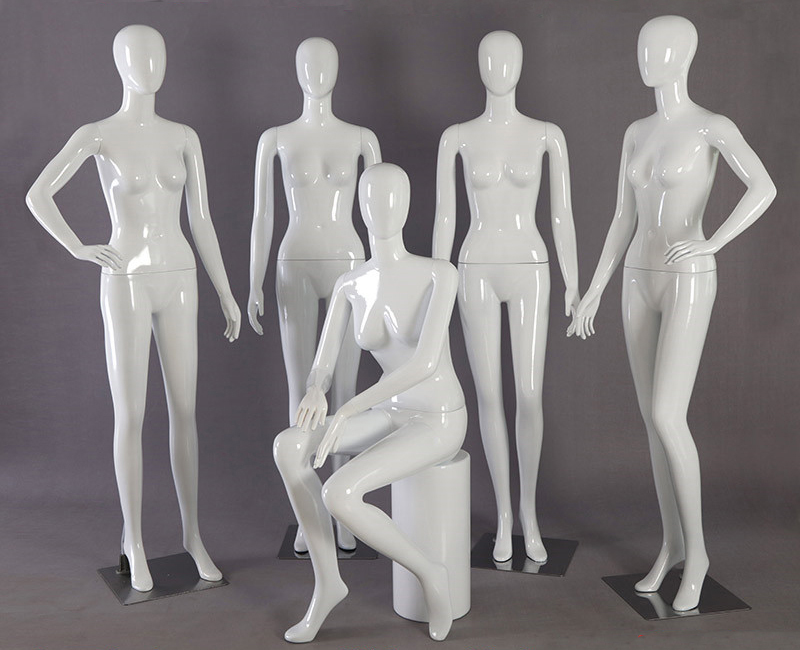 High Grade Bright White Full-body Model Underwear Clothing Store Mannequin Display Hot Sale mannequin