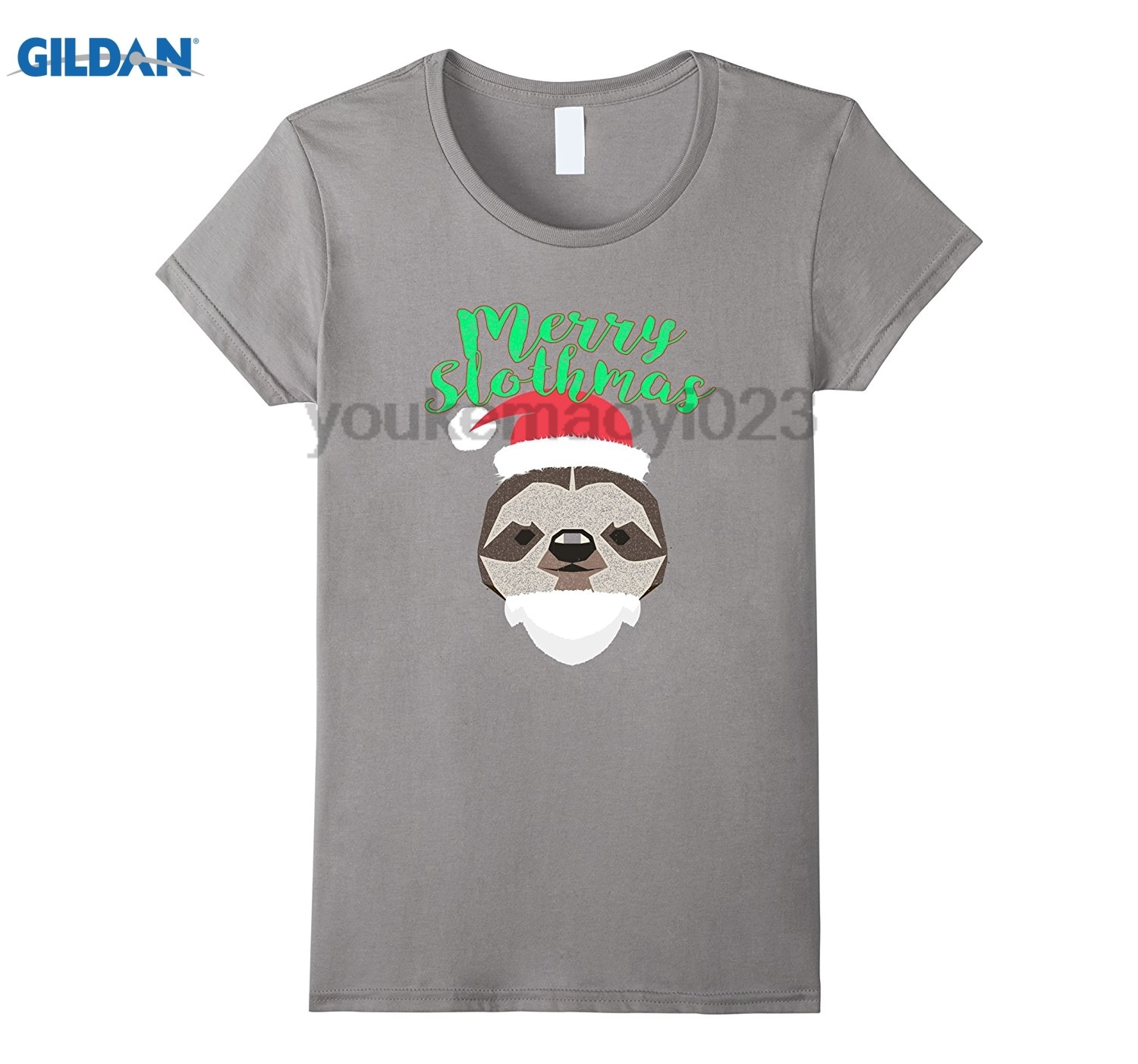 GILDAN Sloth Animal Merry Slothmas Shirt 4 Christmas Kids Men Women