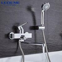 LEDEME 1 Set Shower Faucet Sets Classic Single Handle Brass Bathroom Faucet Bath Faucet Mixer Tap