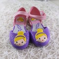 14-16.5cm Gilrs Sandals Jelly Princess Summer Children'S Shoes Jelly Crystal Shoes breathable Cartoon Sandals Crystal Shoes