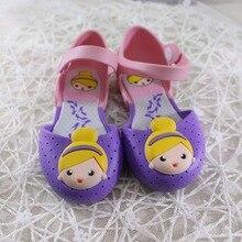 14-16.5 cm Gilrs Sandales Mini Melissa De Gelée Princesse D'été Enfants Chaussures De Gelée Cristal Chaussures respirant de Bande Dessinée Sandales Chaussures