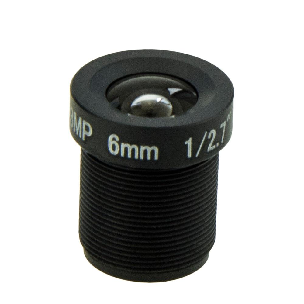 6mm Lens M12 3MP HD CCTV IP Camera Lens for 960P 1080P Analog IP Camera aluminum alloy 6mm f1 2 cctv camera lens black