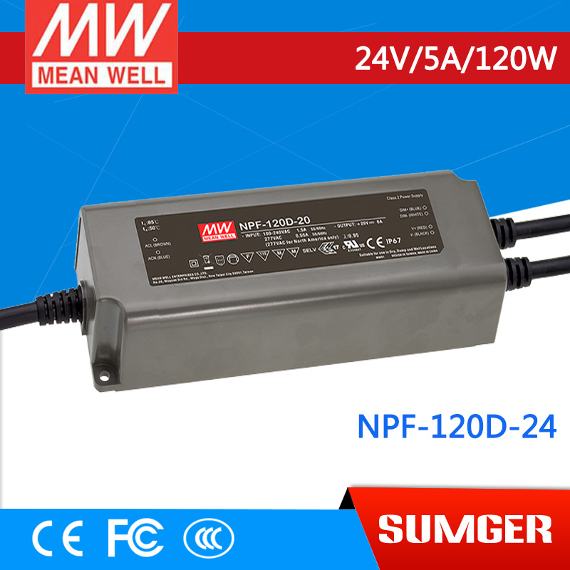цены 1MEAN WELL original NPF-120D-24 24V 5A meanwell NPF-120D 24V 120W Single Output LED Switching Power Supply