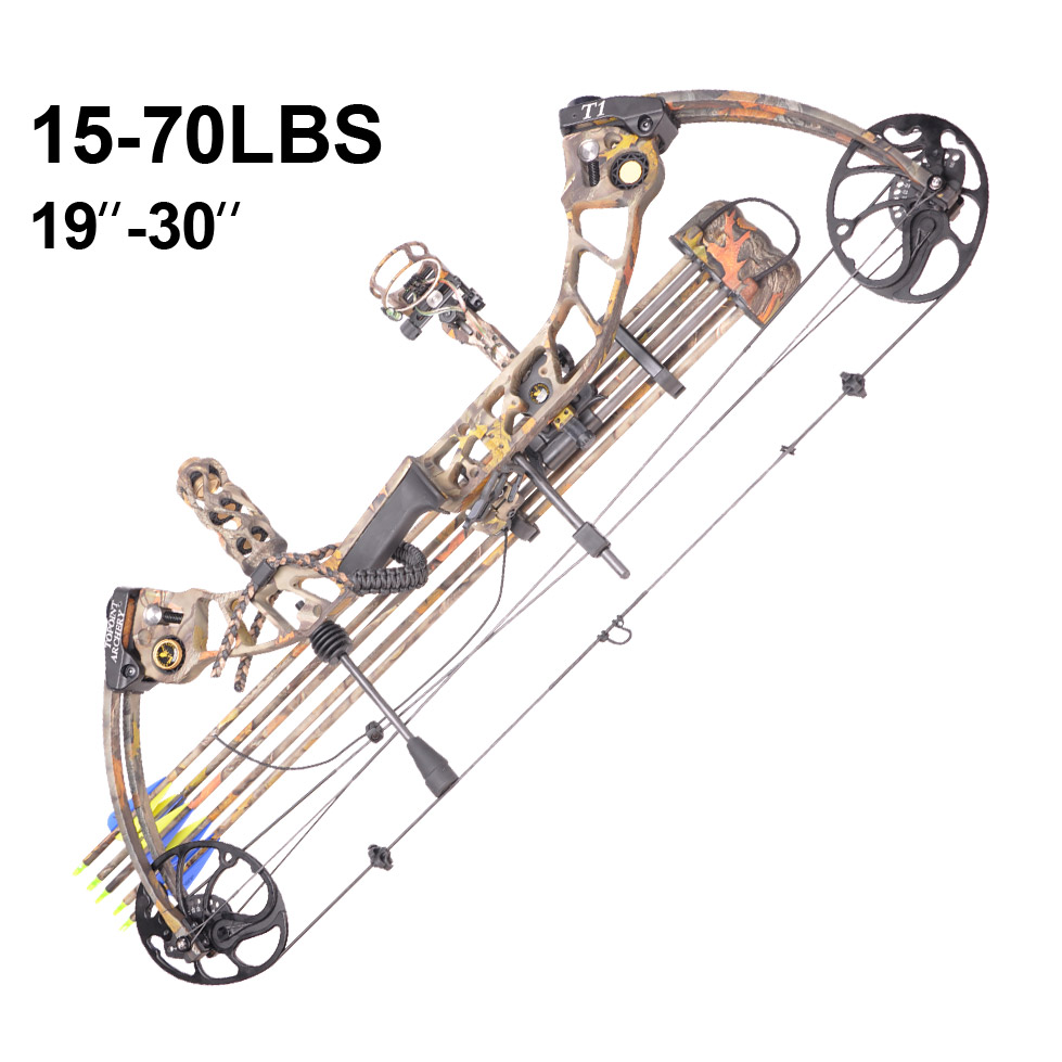 Topoint Archery Left hand bow, compound bow,With 20-70 lbs Draw Weight, black color for human outdoor hunting, Archery bow цена и фото