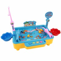 Magnetic Fishing Game Electronic Education Toy The Fish Can Swim Kids Family Time Supplies With Music For Boys Girls