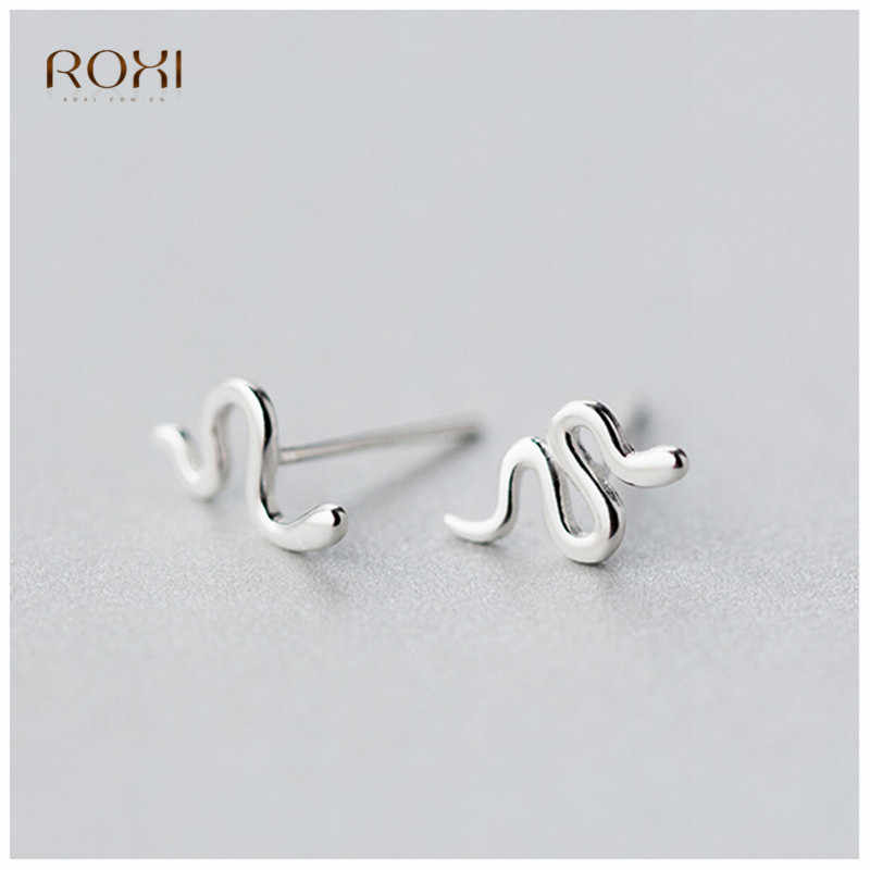 ROXI Anti-allergie Schlange Stud Ohrringe Für Frauen 100% 925 Sterling Silber Ohrringe Charme Tier Kleine Ohrring Piercing pendientes