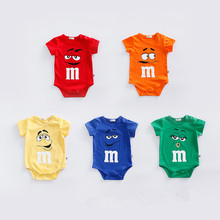 Фотография Fantasia Baby Bodysuit Infant Jumpsuit Overall Short Sleeve Body Suit Baby Clothing Set Summer Cotton DS19