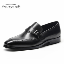 Mens formal shoes leather men dress oxford shoes for men dressing wedding business office shoes buckle male zapatos de hombre