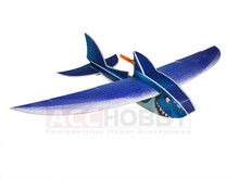 RC Plane Penghantaran Percuma EPP Pesawat Model Mini Shark RC Wingspan 1000mm Biomimetic Plane EPP Slow Flyer