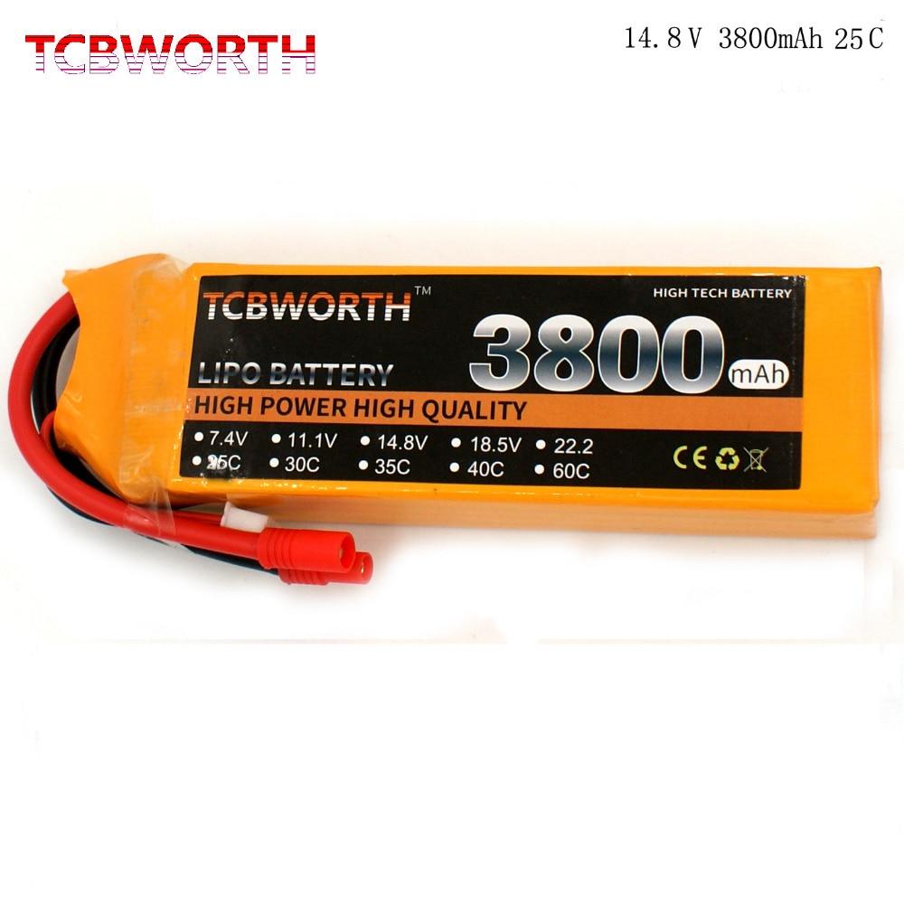 RC Lipo font b battery b font 4S 14 8V 3800mAh 25C RC LiPo font b