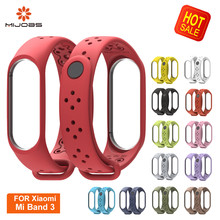 Mijobs Sport Mi Band 4 3 Strap Silicone Bracelet for Xiaomi WristBands correa Smart Watch Replace