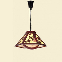 Lifting telescopic chandelier modern Chinese LED wooden chandelier study lamp mahjong lamp AP8151135