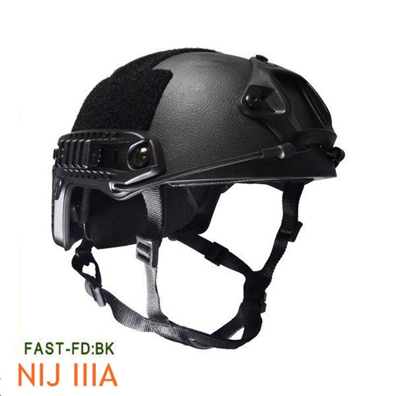 NIJ IIIA FAST Kevlar Bulletproof Helmet Tactical Hunting Airsoft Shooting Wargames Ballistic Helmet kevlar helmet airsoft paintball ballistic helmet fast bj sand standard version helmet military tactics helmet