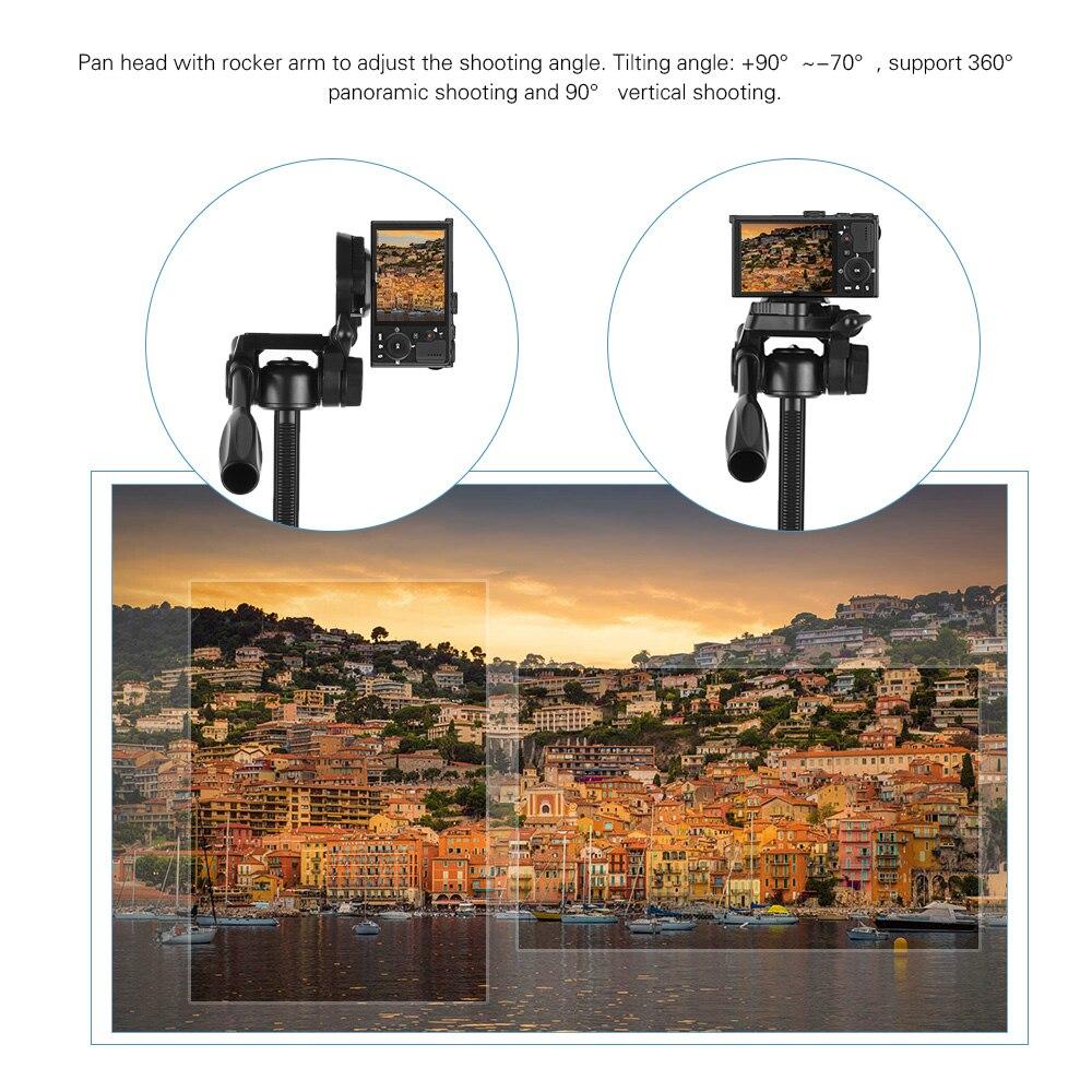 HTB1ymaGXgnD8KJjy1Xdq6yZsVXat - Trépied 1m35cm Ultraléger + Sac + Mini Trépied + Support de téléphone - Noir