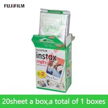 Original fujifilm Instax Mini White instax mini 9 film 20 Sheet Instant Photo Paper For Instax Mini8 9 7s 25 50s SP-1 Camera