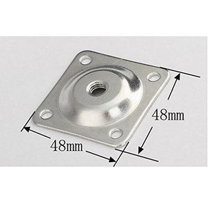 Image 4 - 8 Sets Furniture Leg Mounting Plates with Hanger Bolts Screws Great for Furniture Sofas Couches Seats