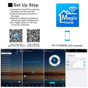 Image 5 - DC12V 24V MINI WIFI RGB/RGBW/RGB WW CW kontroler taśmy ledowej Smartphone i tryb timera magia domu Mini Wifi RGB LED kontrolery