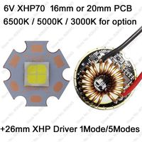 Cree XHP70 6V 6500K Cool White 4500K Neutral White 3000K Warm White High Power LED Emitter