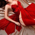 Sexy lingerie Red costumes sexy dress fancy underwear coveralls erotic lingerie sleepwear sex products for women teddy