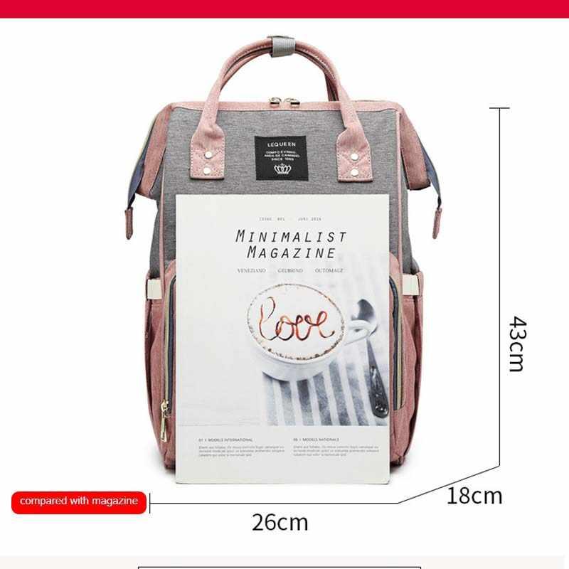 Lequeen множественный рюкзак мумия сумка уход Портативная сумка для подгузников сумка большая емкость дорожная сумка для кормления сумка для пеленок для детской коляски