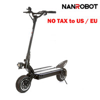 NANROBOT LS7 Powerful 11'' LG 60V 35AH 3600W Motor Allow Top Speed 52 MPH and 56 Miles Adult Electric 2 Wheel kick e Scooter