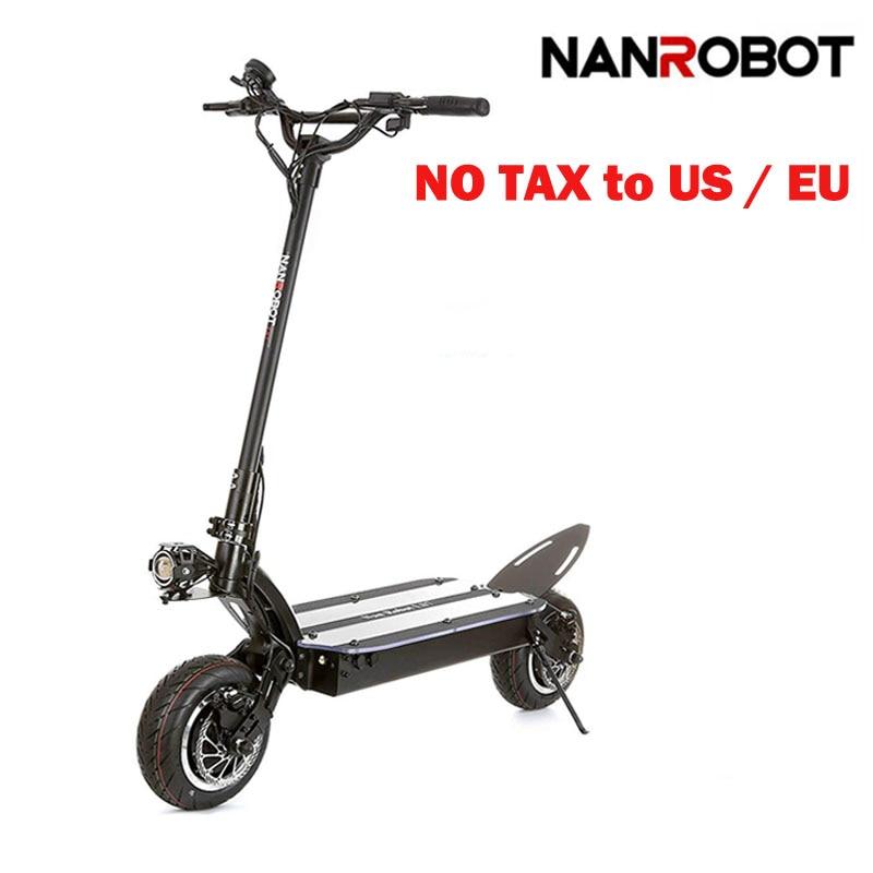NANROBOT LS7 puissant 11 ''LG 60 V 35AH 3600 W moteur permettre une vitesse maximale 52 mi/h et 56 Miles adulte électrique 2 roues coup de pied e Scooter