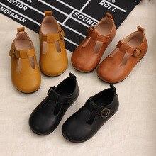 Обувь для девочек в стиле принцессы с Т-образным ремешком; детская кожаная обувь mary jane; обувь принцессы; детская обувь в стиле ретро; вечерние туфли на застежке-липучке; туфли на плоской подошве; 21-30