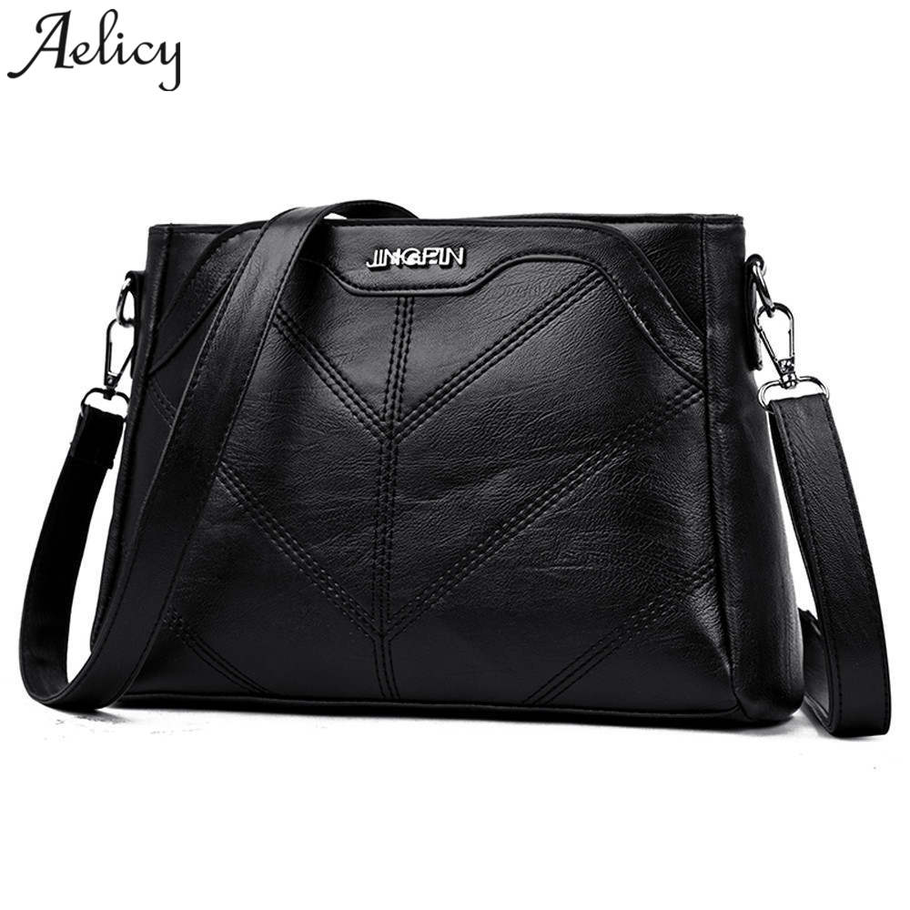 Aelicy 2018 Luxury Handbags Women Bags Designer Brand Female Crossbody Shoulder Bags For Women Leather Sac a Main Ladies Bag trenadorab velour shoulder bag women bag luxury handbags designer brand ladies chain velvet crossbody messenger bags sac a main