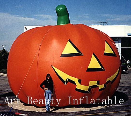 10ft outdoor halloween decoration inflatable pumpkin - Outdoor Inflatable Halloween Decorations