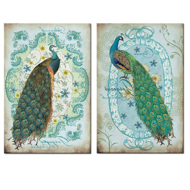 Animal Peacock Wall Art Painting Peacock Canvas Prints Pictures Artwork  Modern Home Decor For Office Bedroom