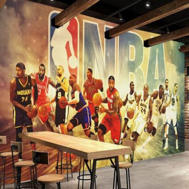 Popular nba backgrounds buy cheap nba backgrounds lots for Basketball mural wallpaper