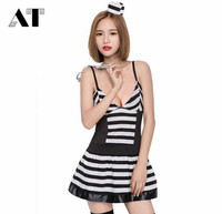 Women Sexy Female Prisoner Costumes Halloween Clothing