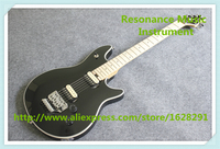 Hot Selling Chinese Black Glossy Finish Wolfgang EVH Electric Guitar With Chrome Floyd Rose Tremolo For