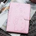 Cute Hello Kitty Soporte Tablet Caso de la Cubierta Elegante Magnética Para Apple cubierta de la caja del ipad air 2 ipad 6 muchacha embroma el regalo de pantalla Protector