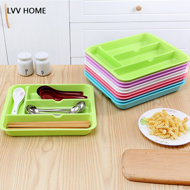 LVV HOME Kitchen Cutlery Storage tray Multi purpose Finishing Boxes
